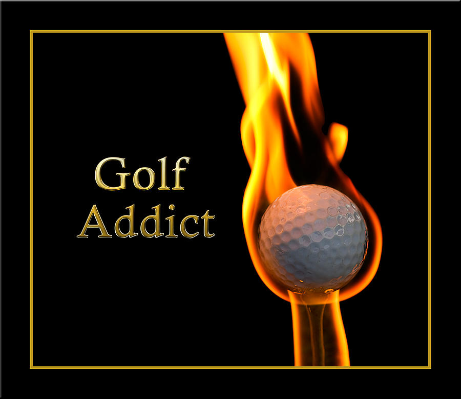 Fire Photograph - Golf Addict by Trudy Wilkerson