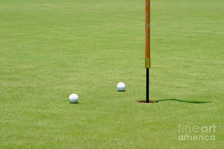 Almost Photograph - Golf Pin by Henrik Lehnerer