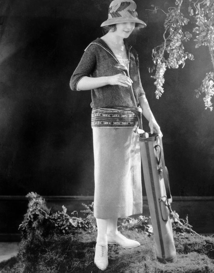 1920s Fashion Photograph - Golfing Outfit Consisting Of Sweater by Everett