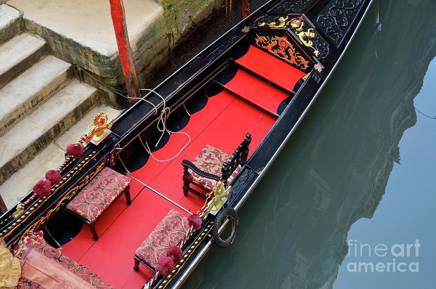 Luxury Photograph - Gondola By Wharf by Sami Sarkis