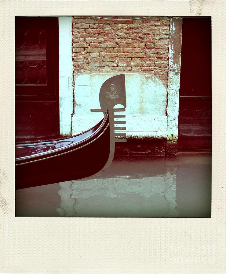 Grand Canal Photograph - Gondola.venice.italy by Bernard Jaubert