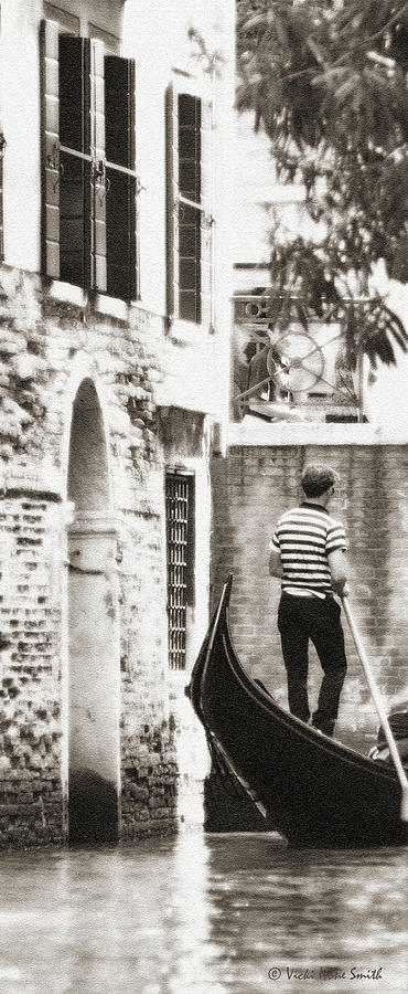 Gondolier 1 Sepia by VICKI HONE SMITH