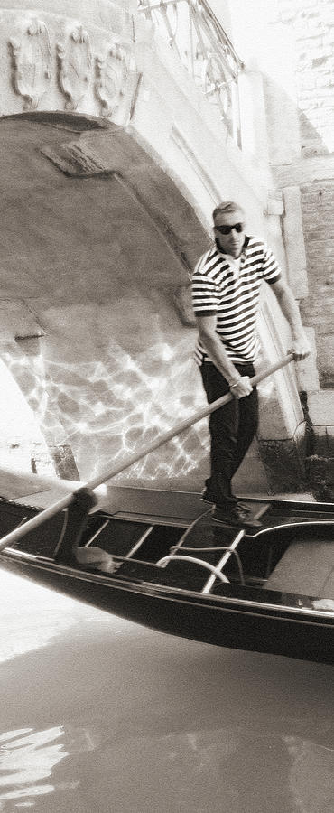 Gondolier 2 Sepia by VICKI HONE SMITH