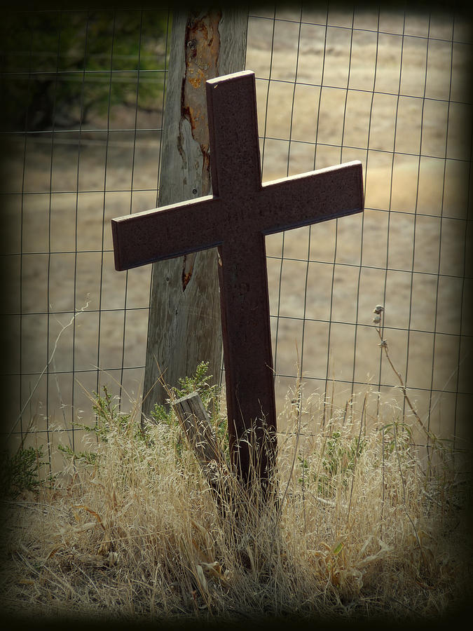 Cross Photograph - Gone But Not Forgotten by Terry Eve Tanner