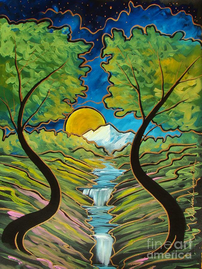 Good morning earth painting by steven lebron langston for How to make a good painting