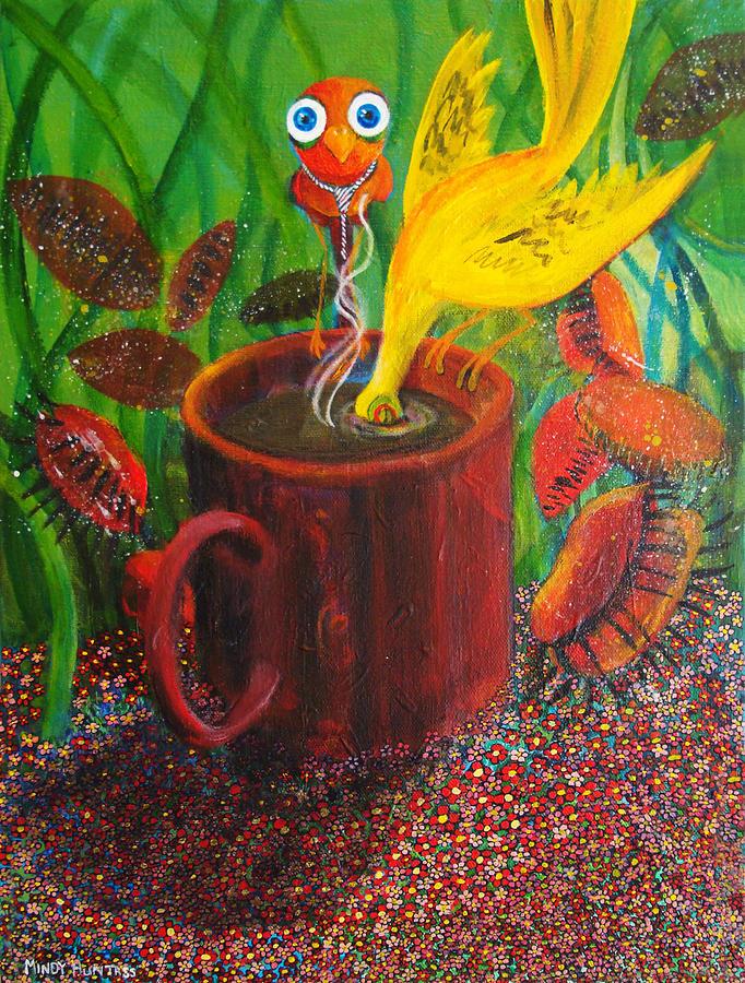 Surreal Painting - Good Morning Joe by Mindy Huntress