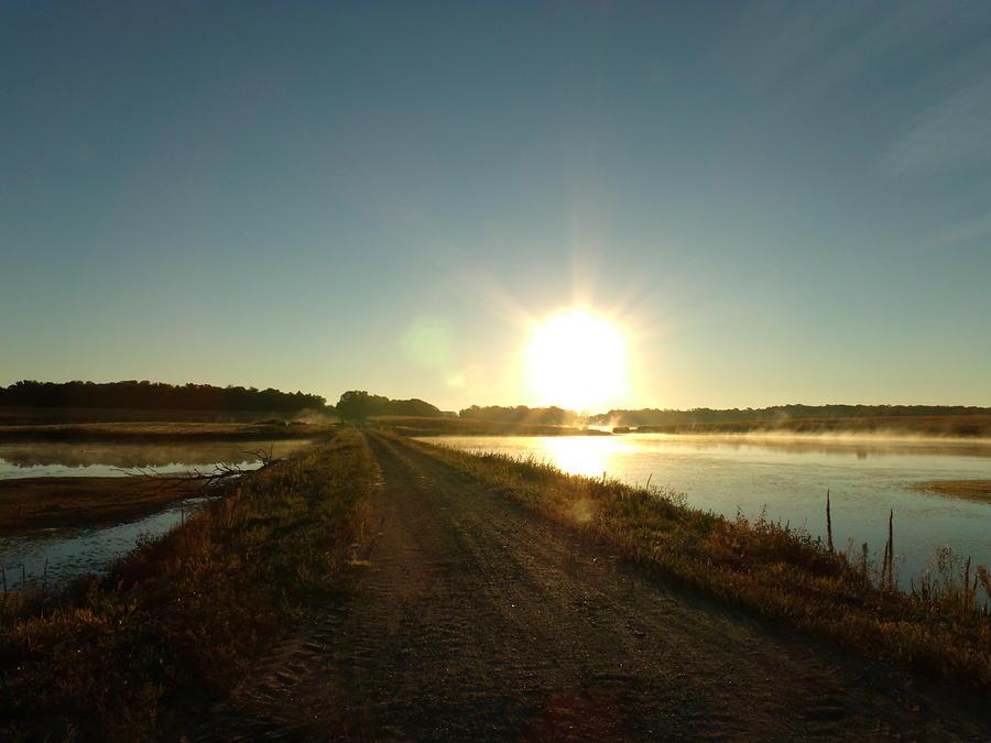Good Morning Photograph - Good Morning Sunrise Road  by Brian  Maloney