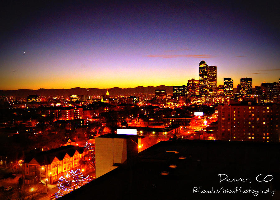 Denver Photograph - Good Night Mile High by Rhonda DePalma