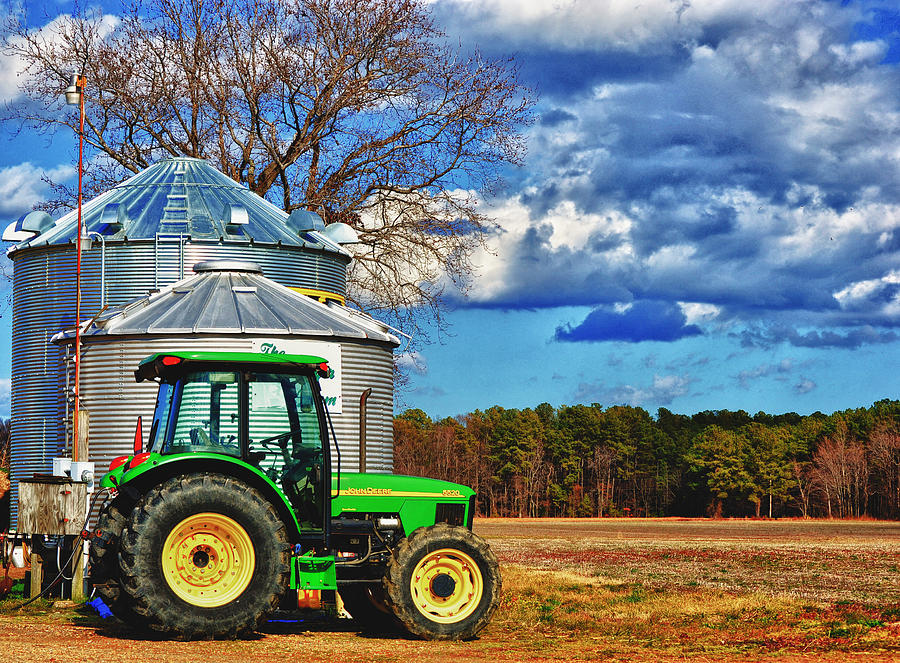 Tractor Photograph - Good Place To Park by Kelly Reber
