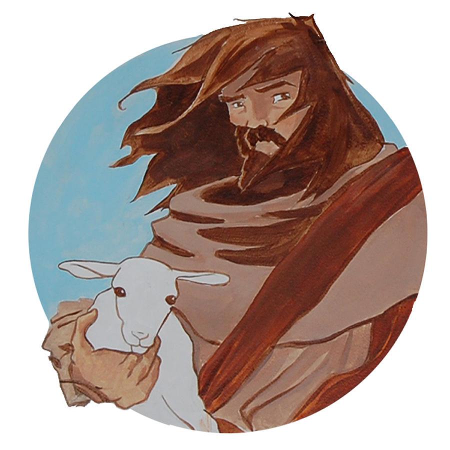 Religious Painting - Good Shepherd 2 by Miguel De Angel