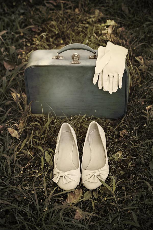 Leather Bag Photograph - Goodbye by Joana Kruse