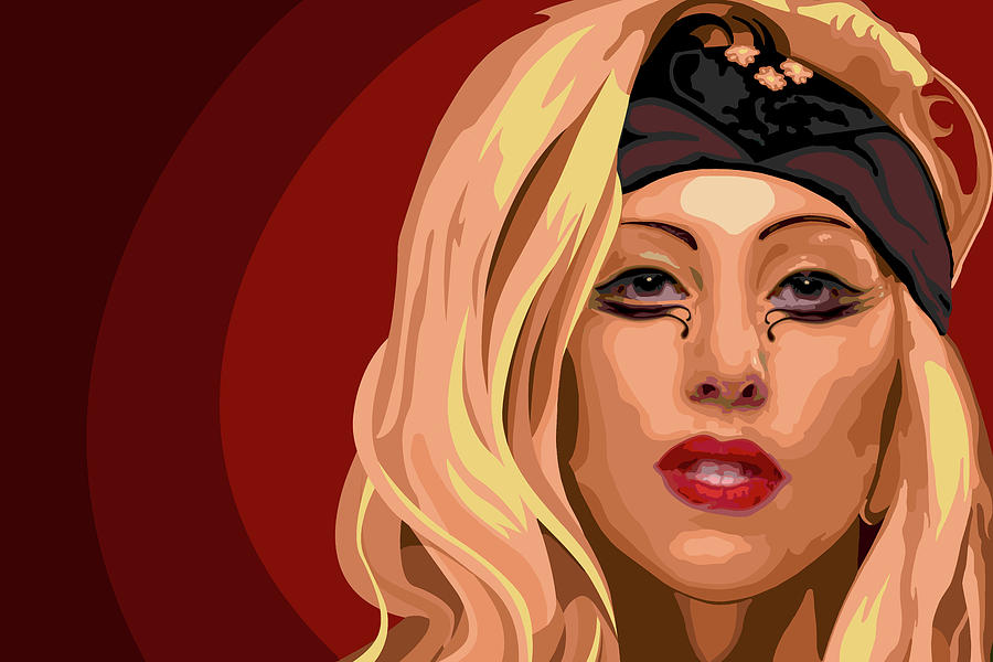 Lady Painting - Googoo For Gaga by Nathaniel Price