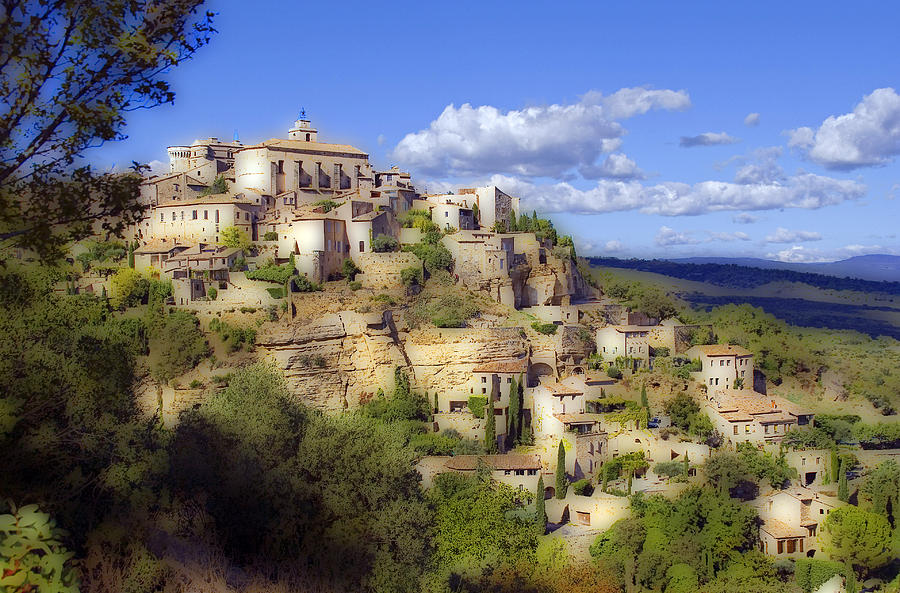 Medieval Photograph - Gordes by Rod Jones