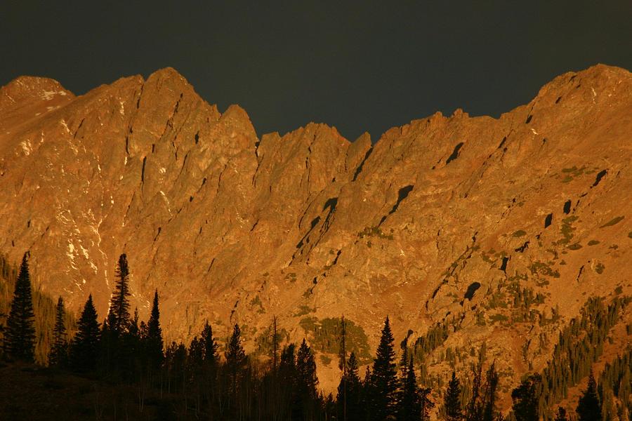 Colorado Photograph - Gore Range Alpenglow by Bob Berwyn