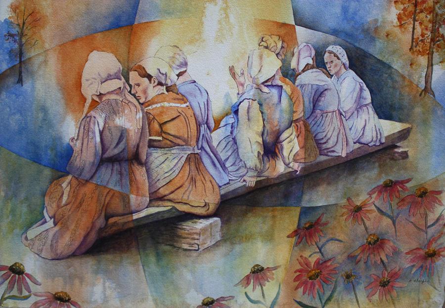 Gossip Bench by Patsy Sharpe