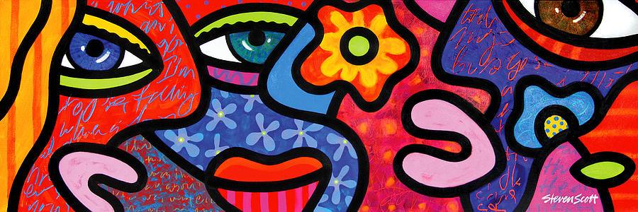 Eyes Painting - Gossip by Steven Scott