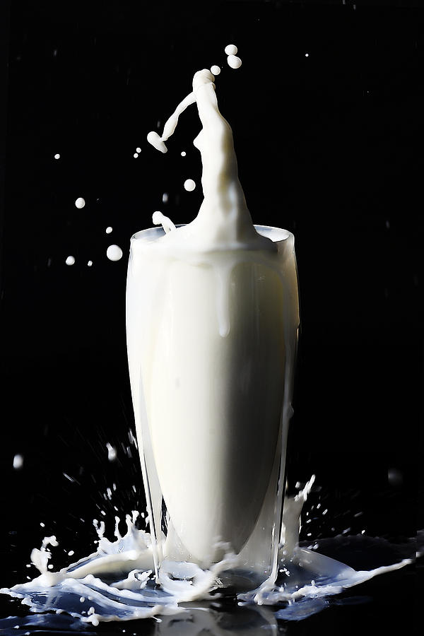 High Speed Photograph - Got Milk 1 by Michelle Armstrong