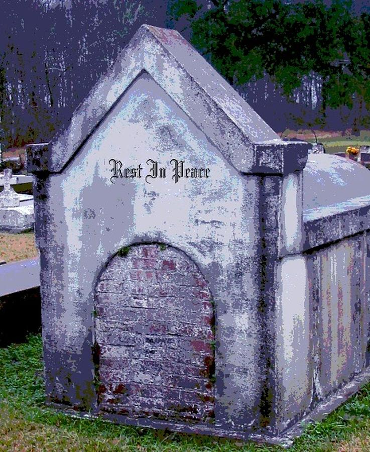 Tomb Photograph - Gothic Rest In Peace by Marian Hebert