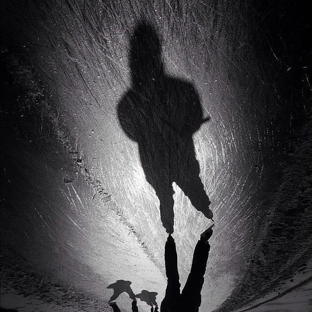 Noir Photograph - Gotta Love This Dutch Winter... #shadow by Robbert Ter Weijden