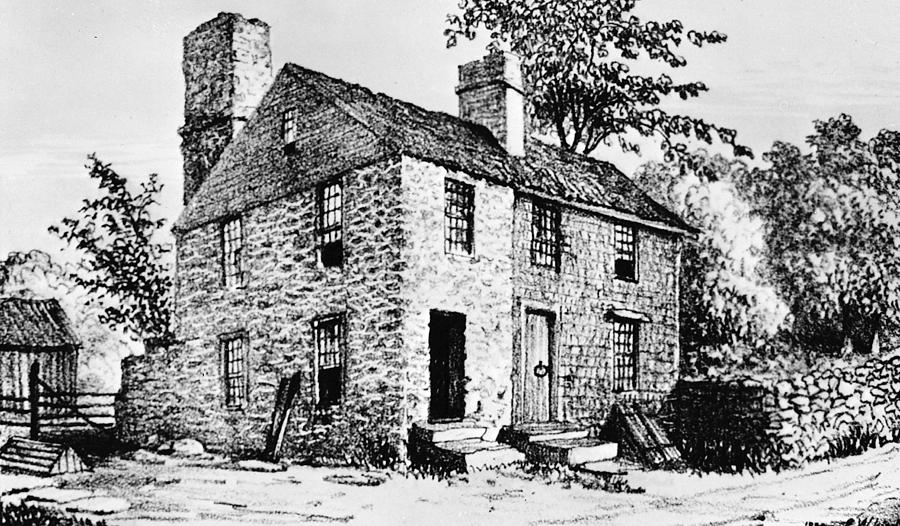 1680s Photograph - Governor Caleb Carr House. A House by Everett
