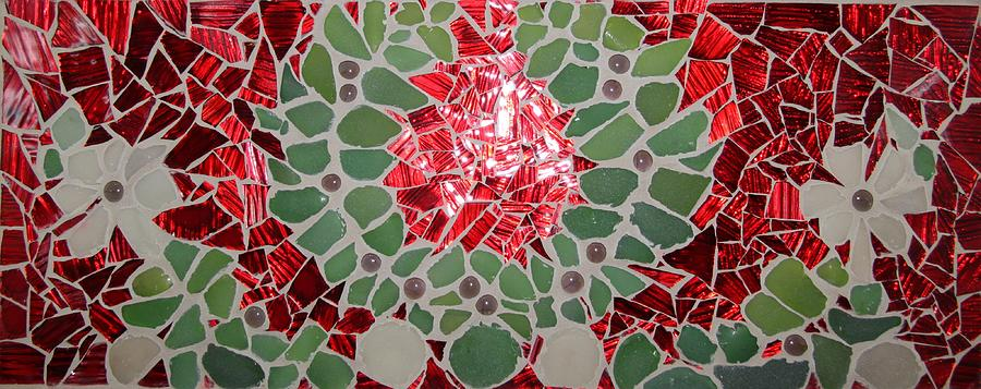 Red Glass Art - GR by Constantinos Louca