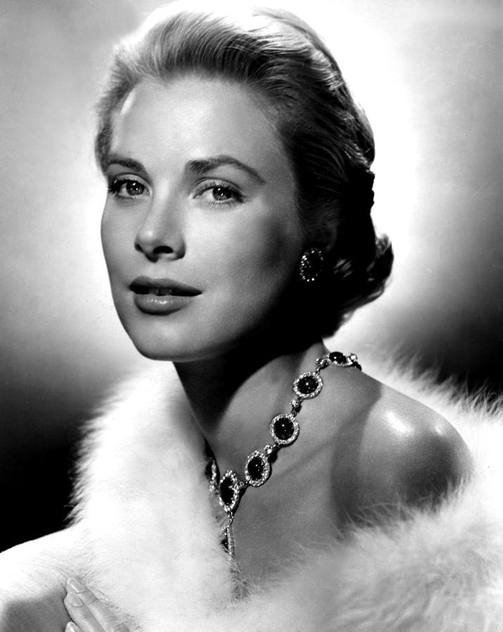 Earrings Photograph - Grace Kelly, 1955 by Everett