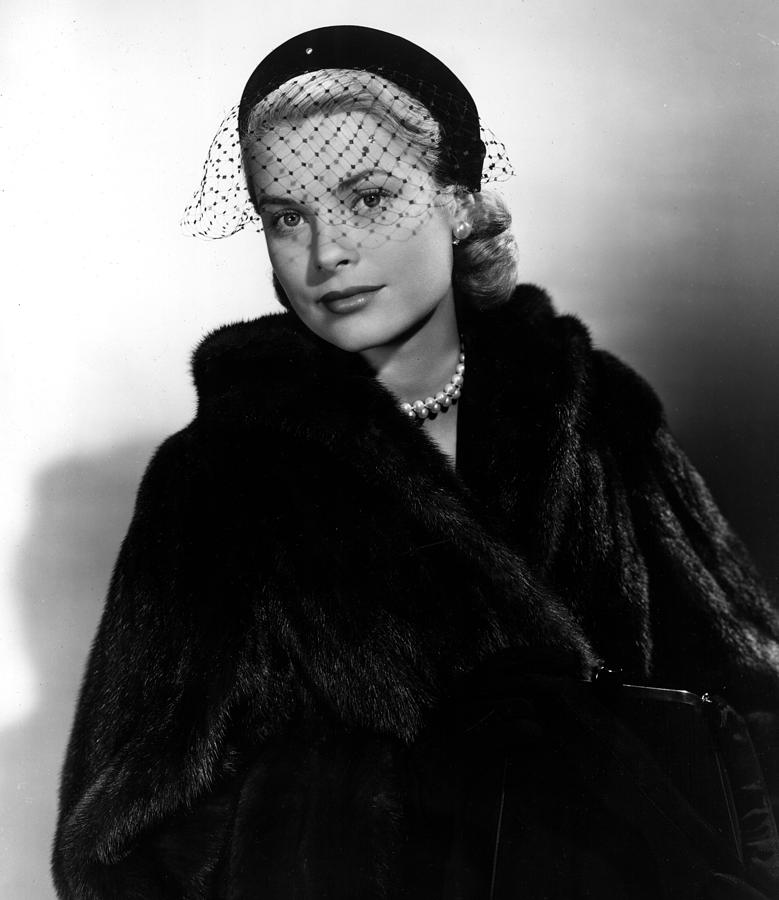 Fur Coat Photograph - Grace Kelly In The Early 1950s by Everett