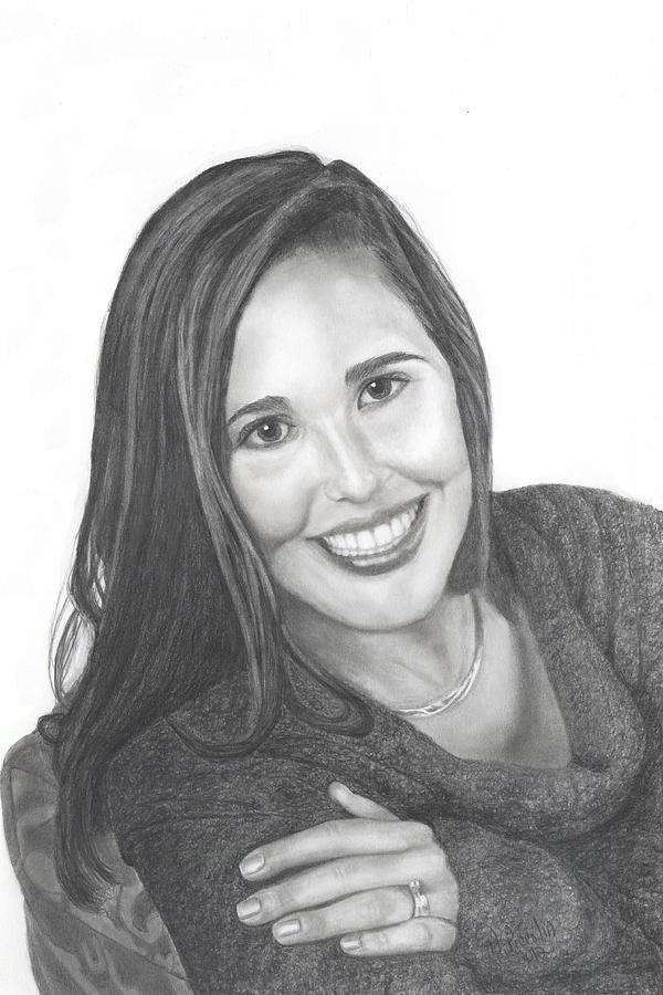 Girl Drawing - Graduate by Marlene Piccolin