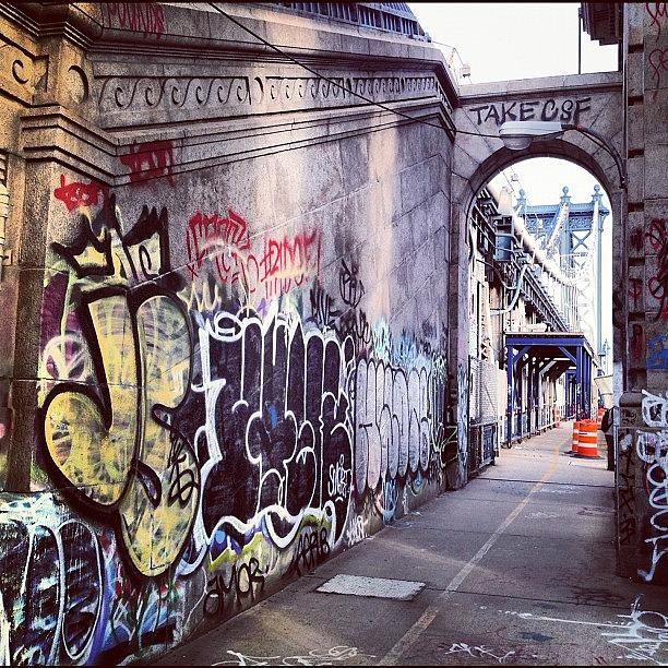 Summer Photograph - Graffiti Bridge by Randy Lemoine