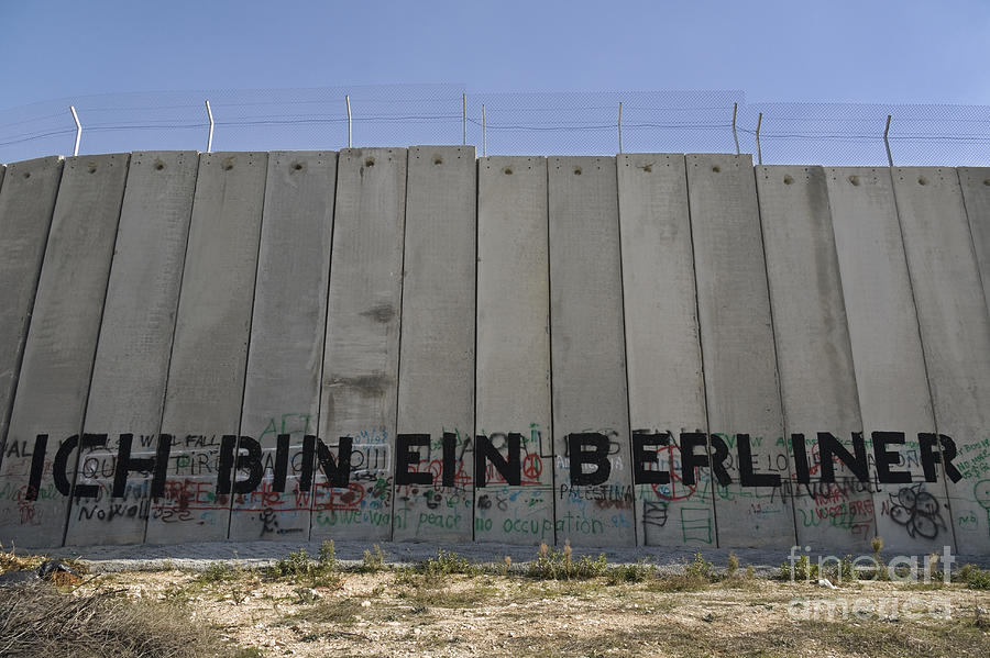 Graffiti On The Separation Wall In Bethlehem Photograph By Roberto
