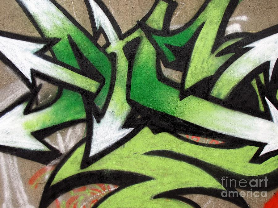 Graffiti Photograph - Graffiti Painting by Yali Shi
