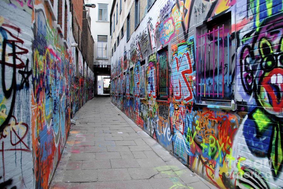 Graffiti Street Photograph By Andrea Simon