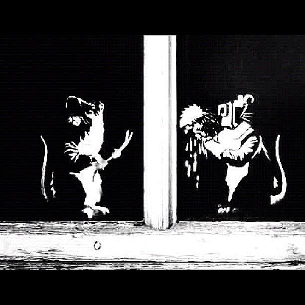 Stencil Photograph - #graffiti #streetart #stencil #banksy by A Rey