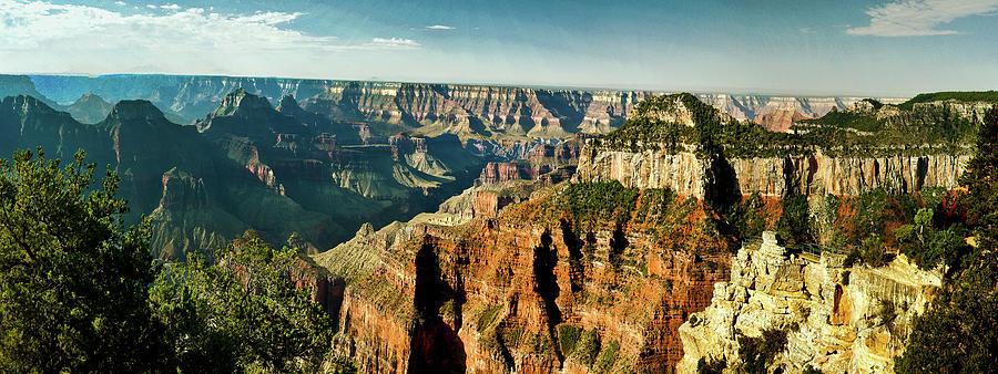 Grand Canyon Digital Art - Grand Canyon Angel Panorama by Bob and Nadine Johnston