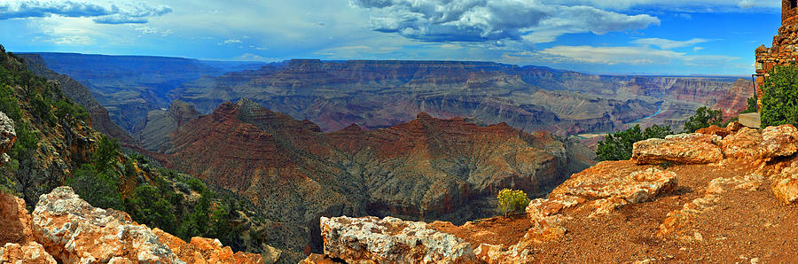 Canyon Photograph - Grand Canyon Panoramic View by Gene Sherrill