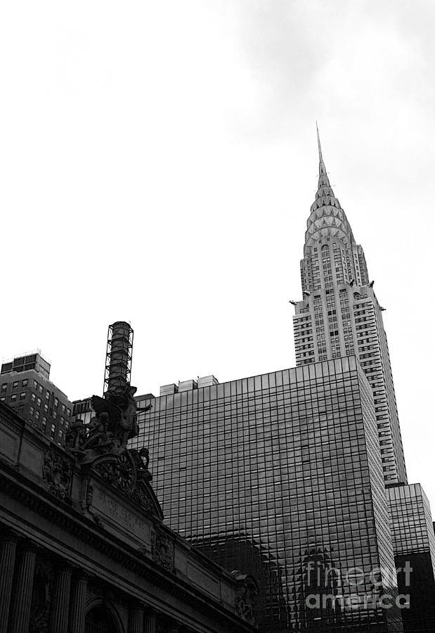 Grand Central Station Photograph - Grand Central-grand Hyatt-chrysler by David Bearden