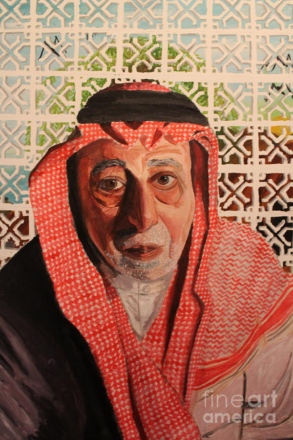 People Painting - Grand Father by Betul Salman