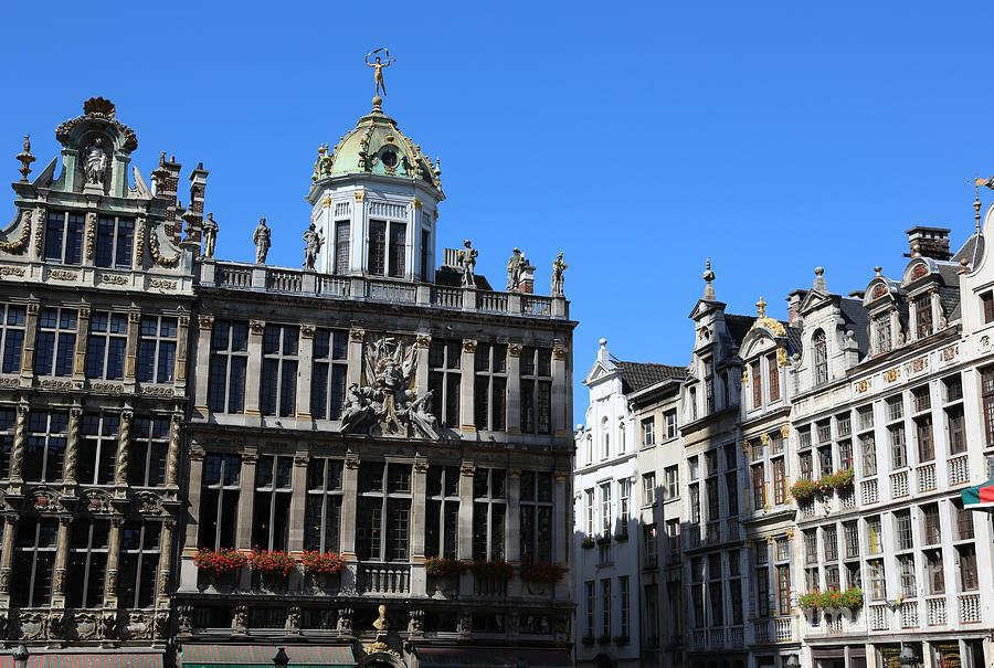 Grand Place Photograph - Grand Place Buildings by Carol Groenen