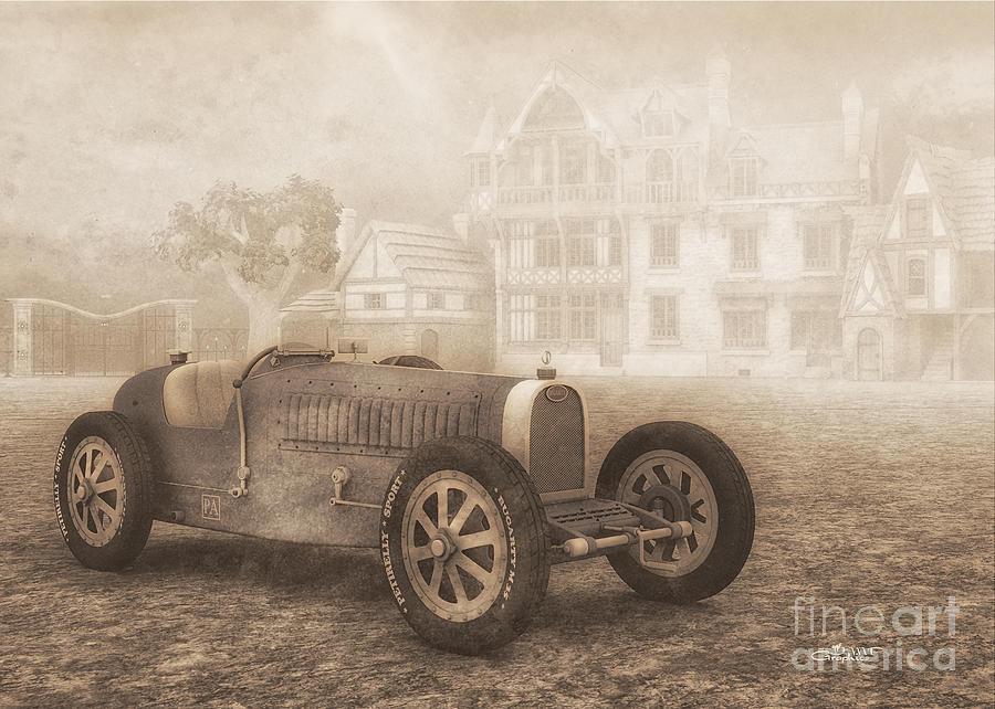 3d Digital Art - Grand Prix Racing Car 1926 by Jutta Maria Pusl