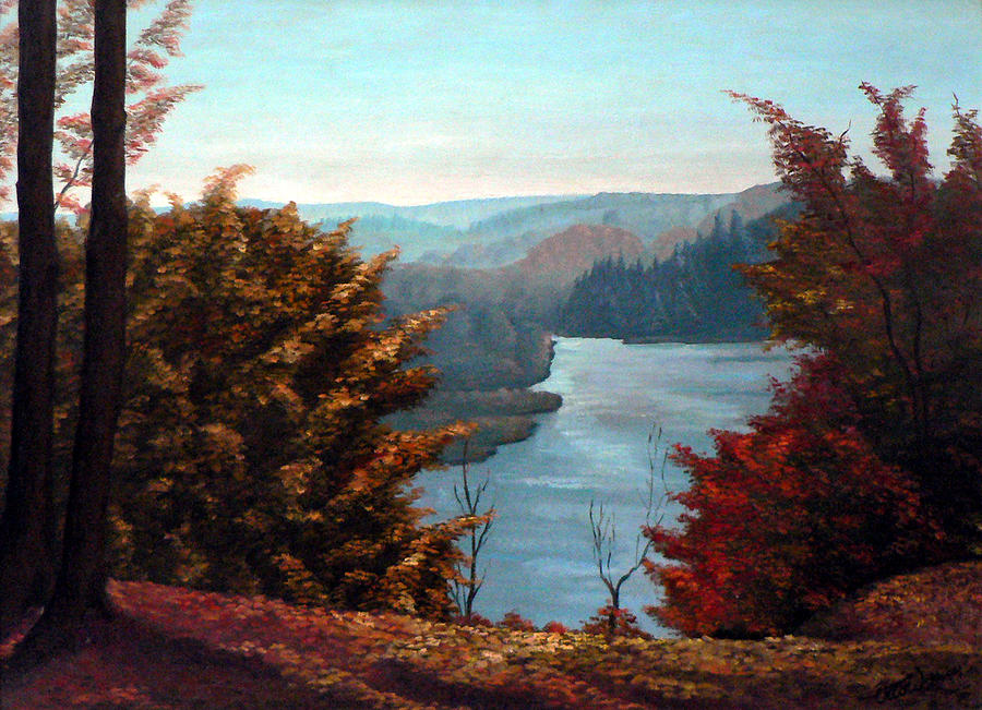 Oil Painting Painting - Grand River Look-out by Hanne Lore Koehler