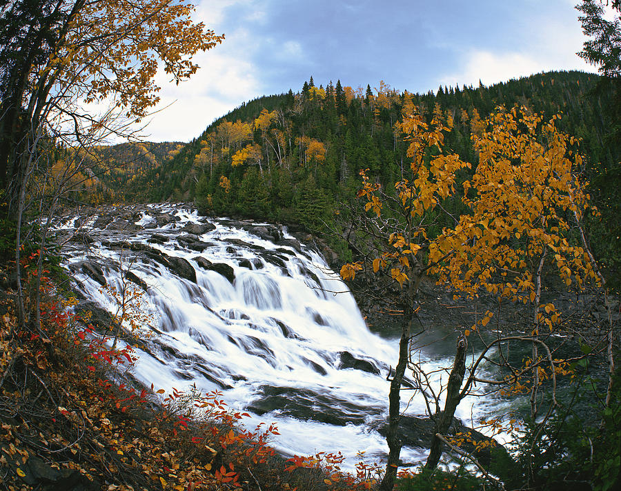 Colour Image Photograph - Grand-sault Falls On Madeleine River by Yves Marcoux