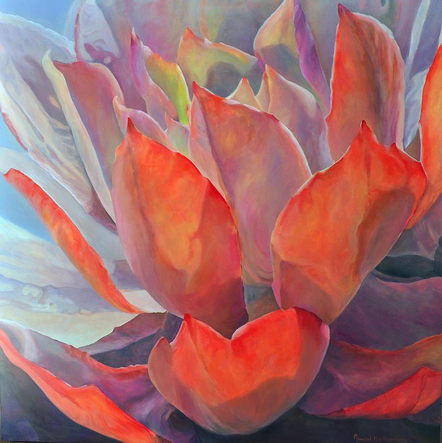 Acrylic Painting - Grand Succulent by Muriel Dolemieux