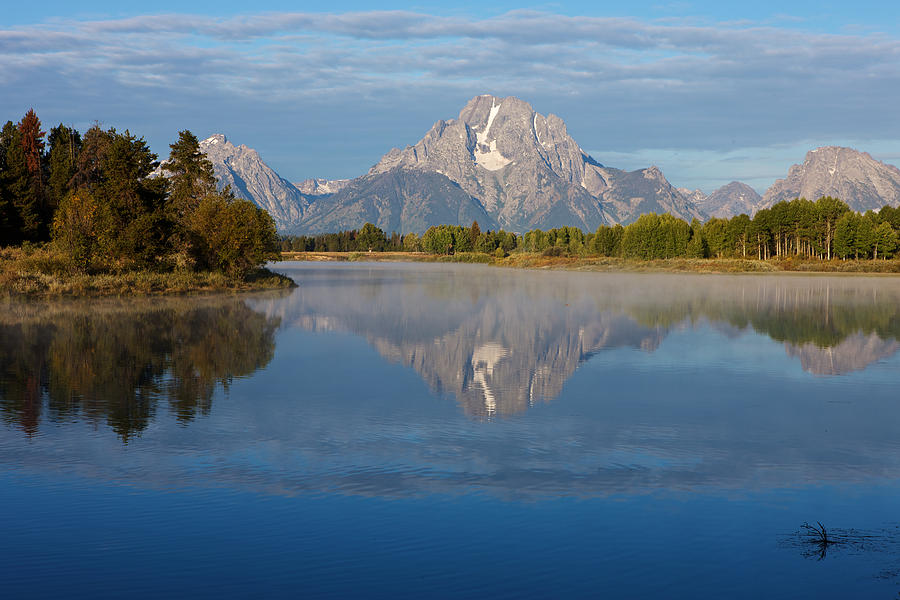 Usa Photograph - Grand Teton Morning by Johan Elzenga