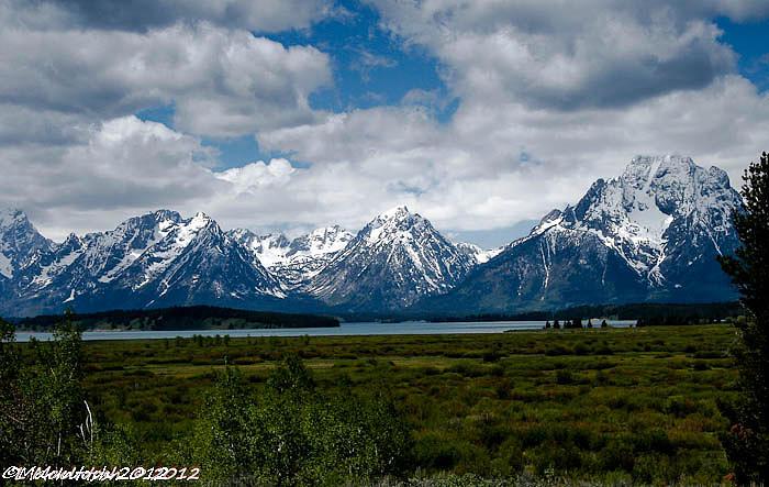 Mountains Photograph - Grand Tetons by Lauren MacIntosh