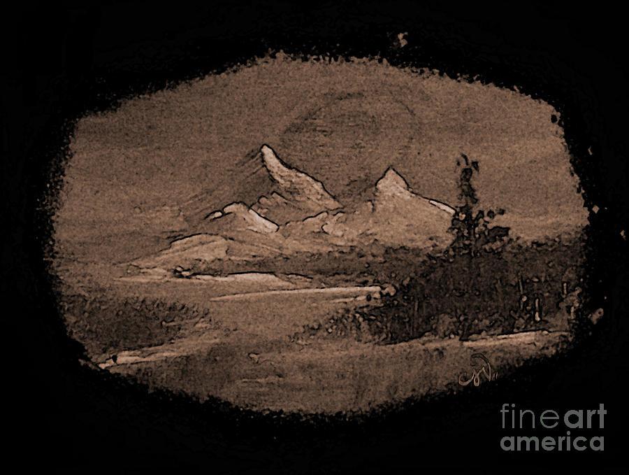 Mountains Painting - Grandeur by Crystal June Norton
