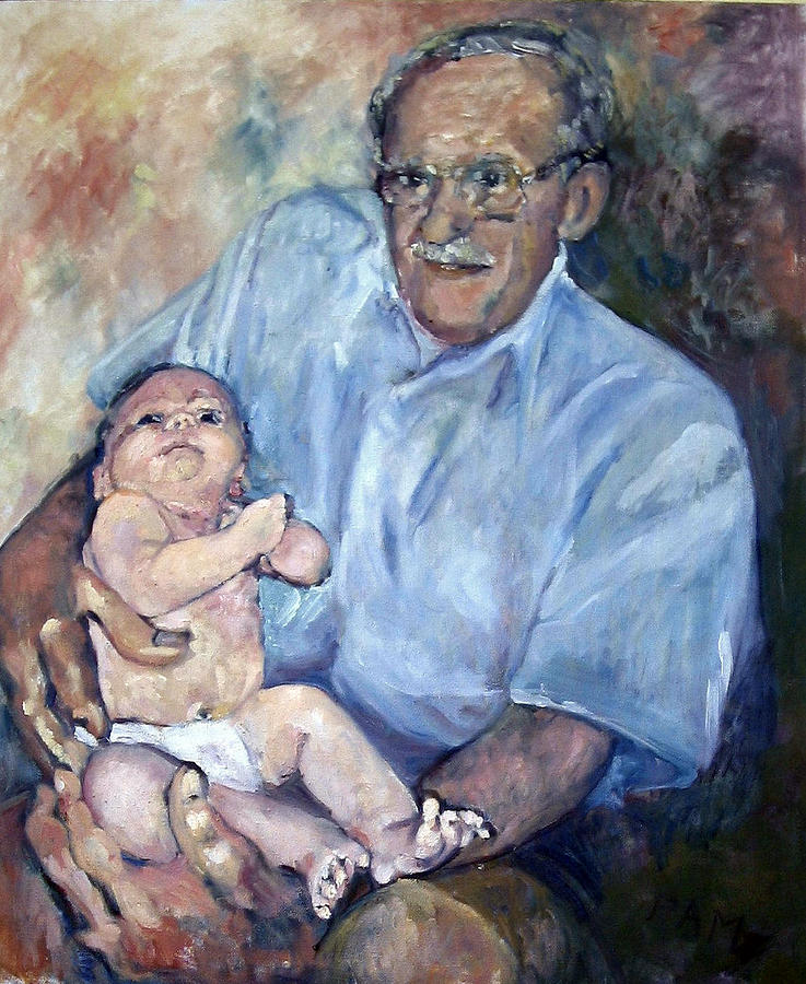 Baby Painting - Grandfather by Pamela A Fox