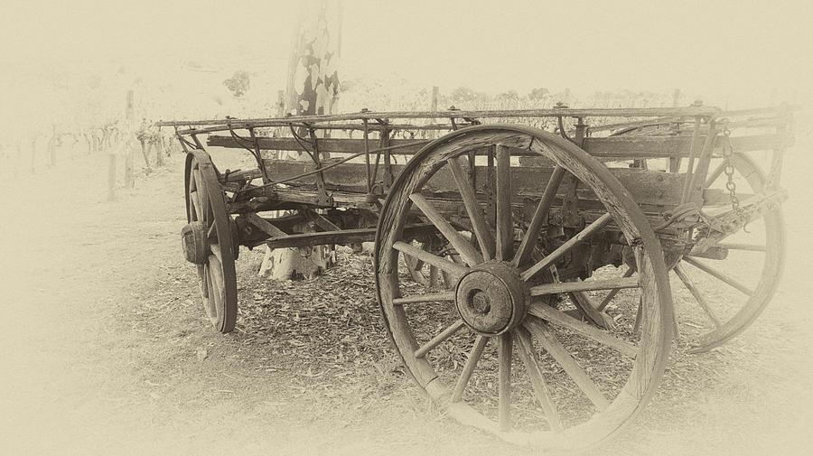 Wagon Photograph - Grandfathers Sunday Drive by Douglas Barnard
