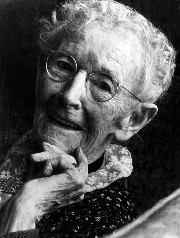 Grandma Moses 1860 1961 Renowned Photograph by Everett