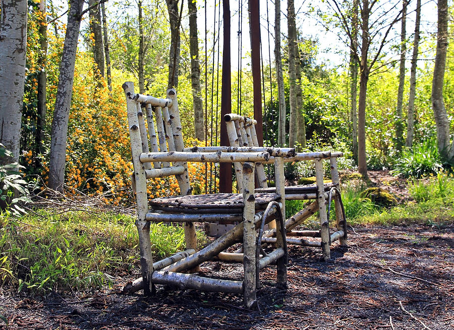 Chairs Photograph - Grandmas Country Chairs by Athena Mckinzie