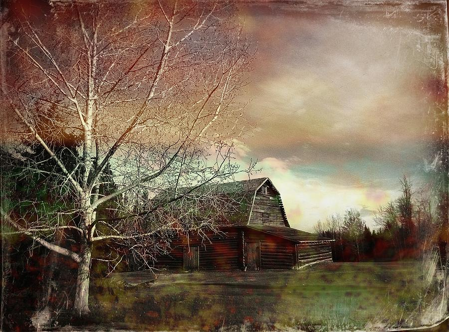 Farm Photograph - Grandpas Barn by Shirley Sirois